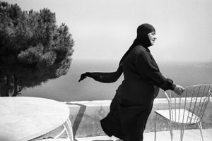 Nun with the Blowing Veil, Convent of Saydat Al Nouriyeh, Chekka Lebanon 2008