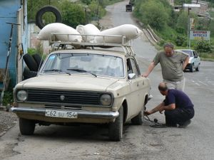 Photographic portrait of a humans on the way to Azerbaijan