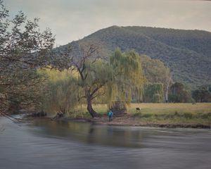 Fisherman, downstream on the Tumut River