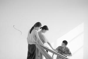 Mạnh, Hương, and Hương at Làng Hữu Nghị,