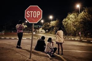 """Girls are looking for clients on the street in the center of Windoek. They constantly risk to be attacked, raped or robbed. Men in Namibia have very little respect for sex workers, they regard them as inferior human beings and even call them """"the toilet pots"""". Hence violence against sex workers is very common."""