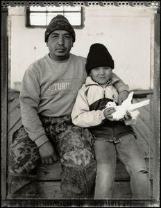 © Radek Skrivanek, Zhassan & Ibolsen with a pet dove, Tastubek, Aral Sea