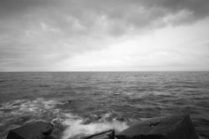 Stone blocks and Sea