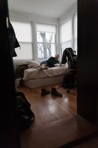 Brady in His Apartment