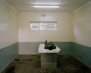 mortuary, nanyuki, northern kenya-from the series 'with butterflies and warriors'-David Chancellor-