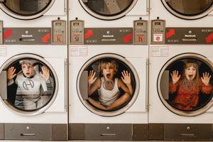 children in the washer