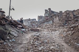 The old town of Mosul on the western bank of Tigris river is nothing but a heap of rubble.