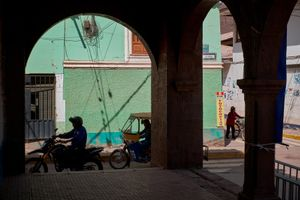 The streets near the Plaza de Armas, Calca, Cusco, Peru