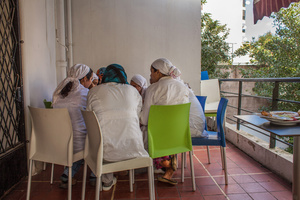 "Casablanca, March 2015. All the girls helped by the association ""Solidarité feminine"", have the opportunity to work in the restaurant and hammam created by the will of the founder Aicha Ech-Channa."