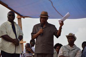 Joseph Boakai campaigning