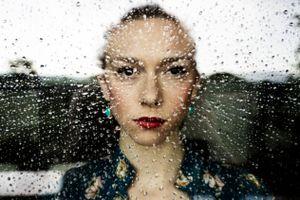 Raindrops portrait