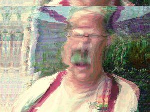 Portrait of the Artist Radiating Skepticism