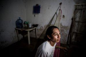 Deborah after a working night in his home. © Meeri Koutaniemi