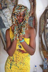 P'anga portrait with braids, Mudiki Studio