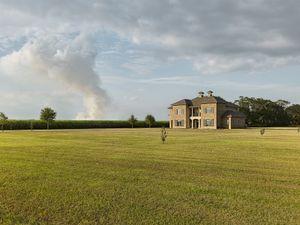 House & Burning Cane, Louisiana