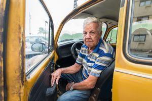 A taxi driver in Vedado, Cuba