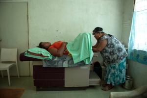 *Susan a sex worker gets a smear test, Kiribati.