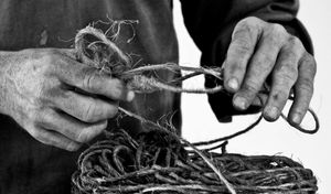 Hands and Bailing Twine