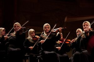 Blind women chamber orchestra Al Nour wal Amal (Light & Hope) from Egypt. Prague 11 september 2011