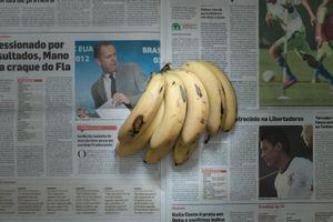 Bananas. Rio de Janeiro , Brazil. December 2011. 2.33 Brazilian Real (1.23 usd, 0.93 euros)