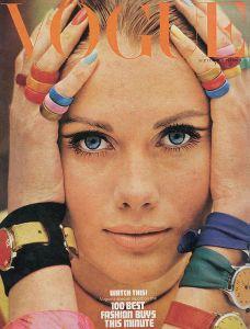 Vogue Magazine cover, September 1966, photo © Saul Leiter