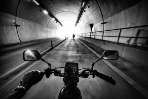 On the Road through a tunnel