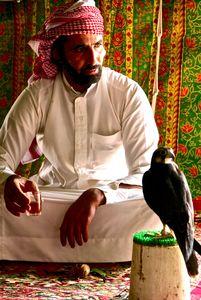 The Falconer and his falcon