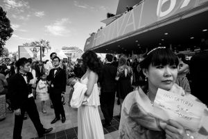 members of the public asking for invitations to the evening's film screenings, 2014  © Alison McCauley
