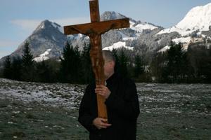 Way of the Cross on Good FridayChemin de la Croix, Vendredi Saint; Broc, Gruyère