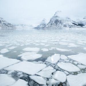 Ice sheets on Flakstadpollen