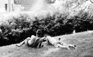 young men in the grass